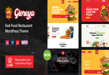 Restaurant Fast Food & Delivery WooCommerce Theme - Gloreya