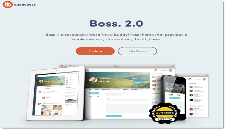 BuddyBoss Boss - Premium BuddyPress Template
