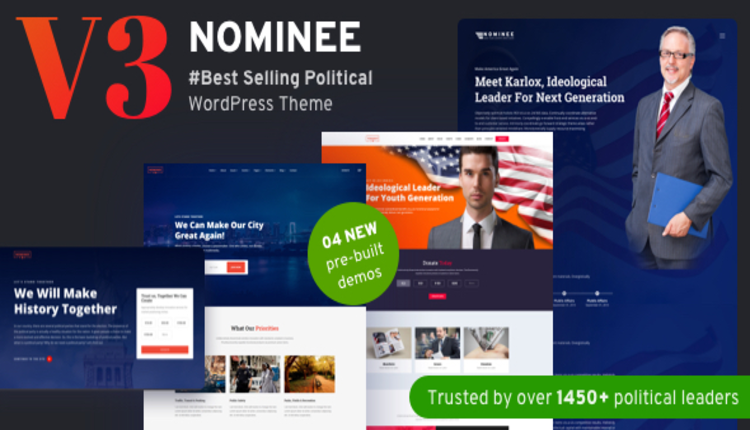 Nominee - Political WordPress Theme for Candidate/Political Leader