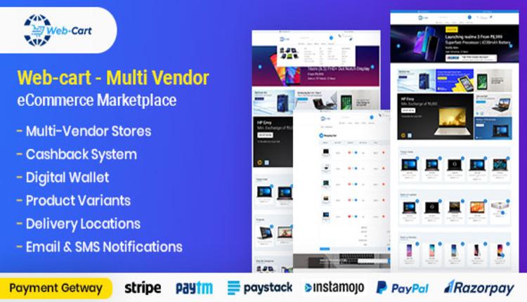 Web-cart - Multi Vendor eCommerce Marketplace