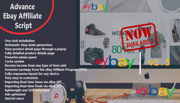 Mybay - Fully Automated Advanced eBay Affiliate Script
