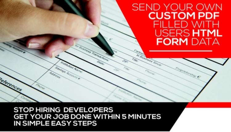 Form Generating PDF -  Wordpress plugin