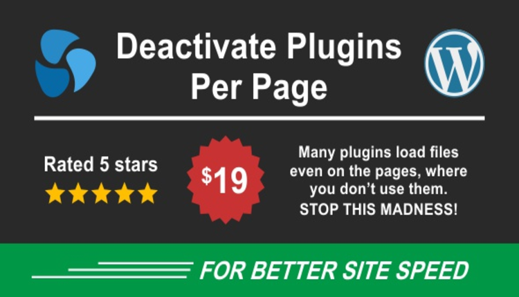 Deactivate Plugins Per Page - Improve WordPress Performance