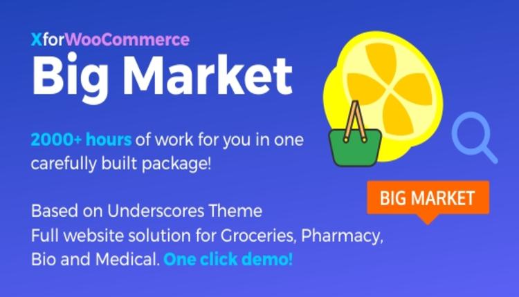 Big Market for WooCommerce and WordPress  - Full website solution!