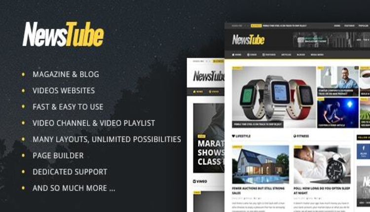 NewsTube - Magazine Blog & Video