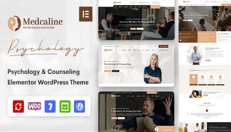 Medcaline - Psychology & Counseling WordPress Theme