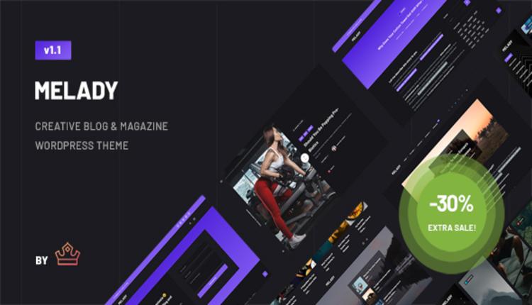 Melady – Creative Blog & Magazine WordPress Theme