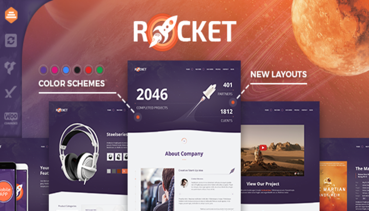 Rocket - Creative Multipurpose WordPress Theme