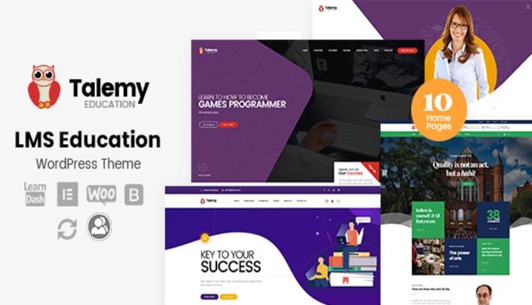 Talemy - LMS Education WordPress Theme