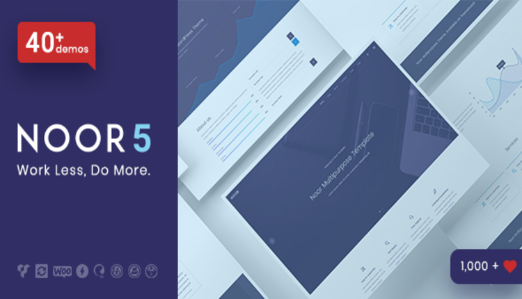 Noor - Minimal Multi-Purpose WordPress Theme, AMP & RTL
