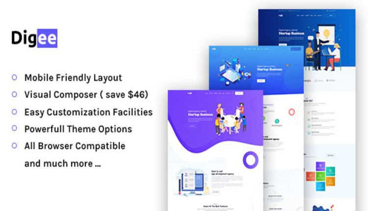 Digee - Digital Marketing Agency WordPress Theme