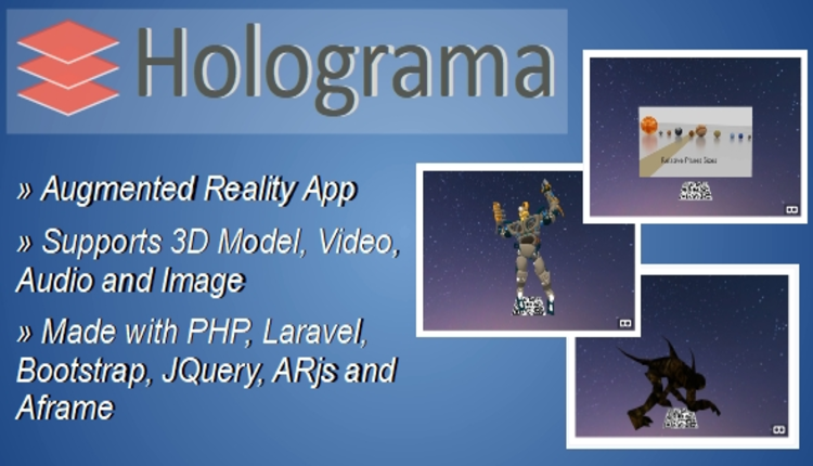 Holograma – Augmented Reality Builder App