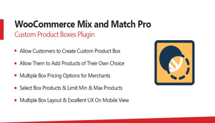 WooCommerce Mix & Match - Custom Product Boxes Bundles
