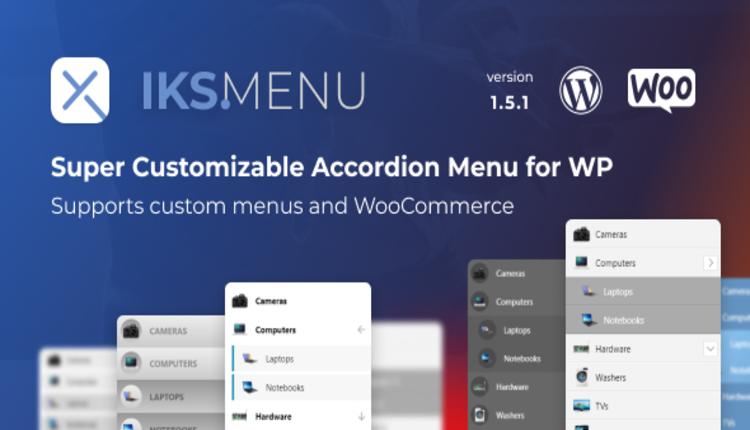 Iks Menu - Super Customizable Accordion Menu for WordPress
