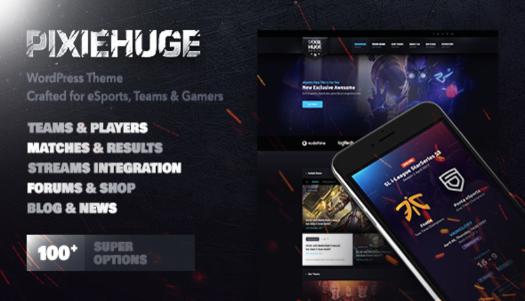 PixieHuge | eSports Gaming Theme For Clans & Organizations