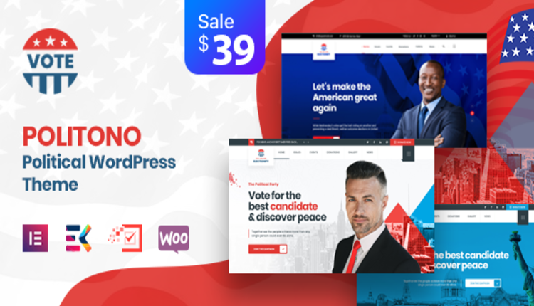 Politono - Political Election Campaign WordPress Theme