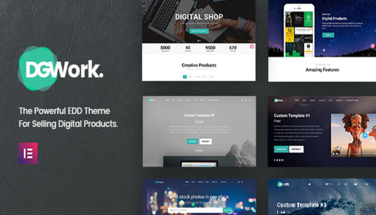 DGWork - Responsive Digital Shop & Market Easy Digital Downloads Theme