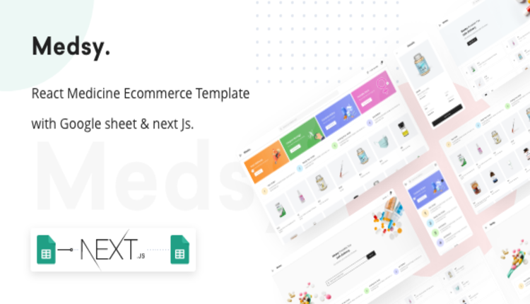 Medsy - React Medicine Ecommerce Template with Google sheet & Next JS.