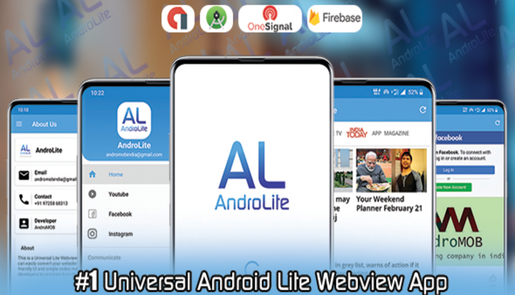 AndroLite - Easy Configurable Android WebView App Template