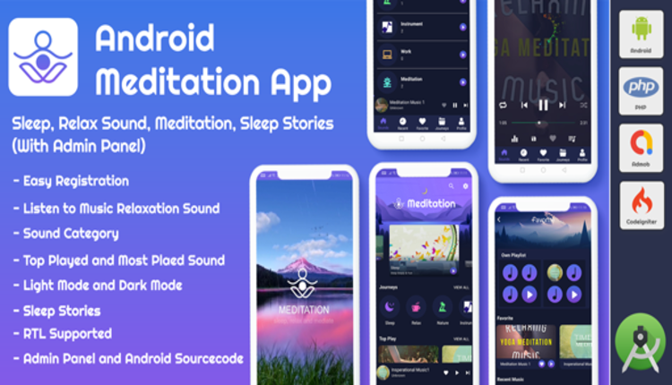 Android AppMeditation & Relaxation Music with Admin Panel