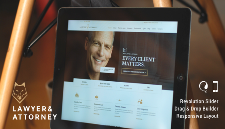Lawyer & Attorney - Law Firm WordPress