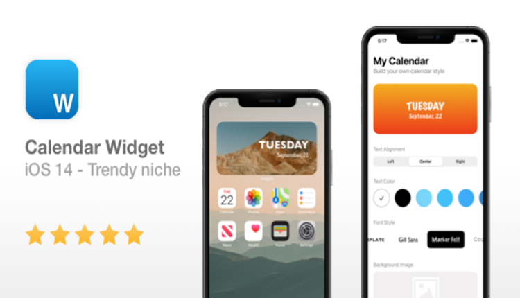 Calendar Widget - NEW iOS 14 Widget