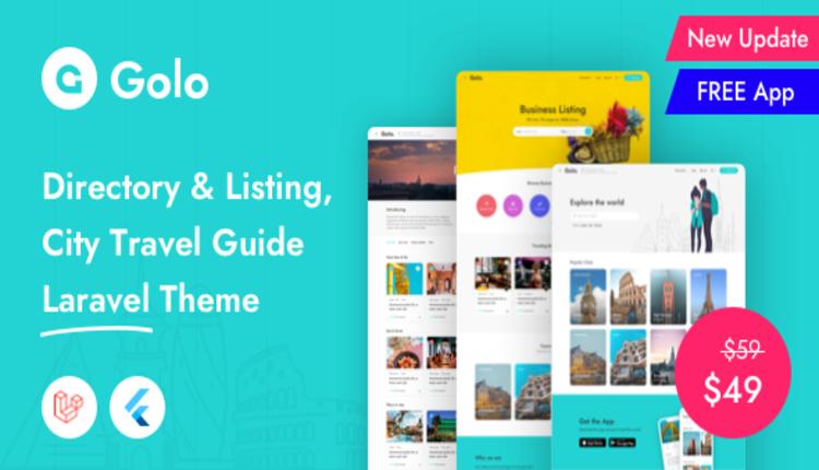 Golo - Directory & Listing, City Travel Guide Laravel Theme