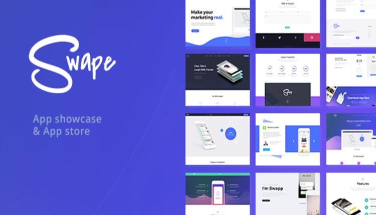 Swape - App Showcase & App Store WordPress Theme