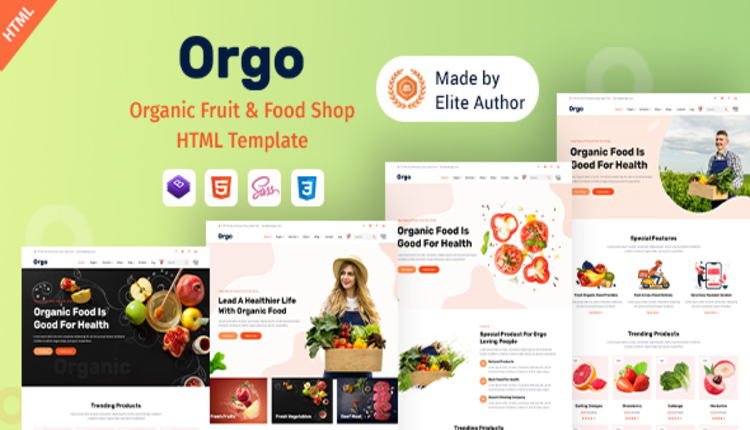 Orgo - Organic Food Shop HTML Template
