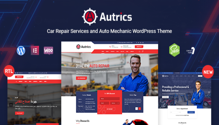 Autrics | Car Services and Auto Mechanic WordPress Theme