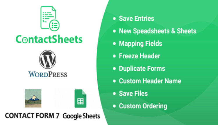 ContactSheets - Contact Form 7 Google Spreadsheet Addon