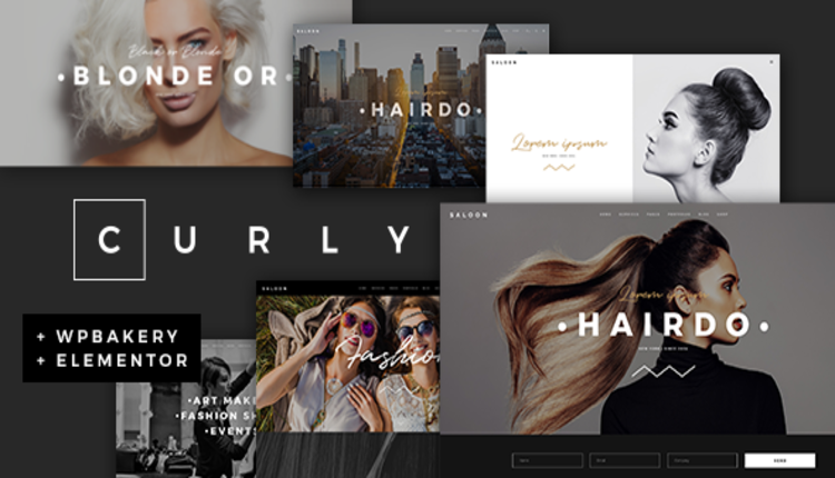 Curly - A Stylish Theme for Hairdressers and Hair Salons