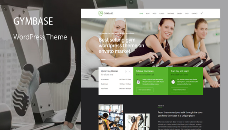 GymBase - Gym Fitness WordPress Theme