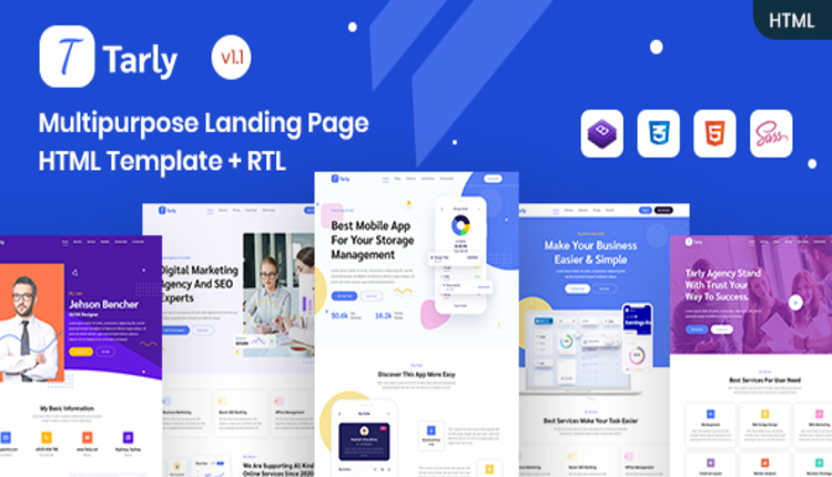 Tarly - Multipurpose Landing Page HTML Template