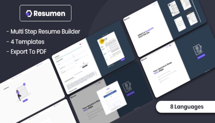 Resumen - MultiStep Resume Builder