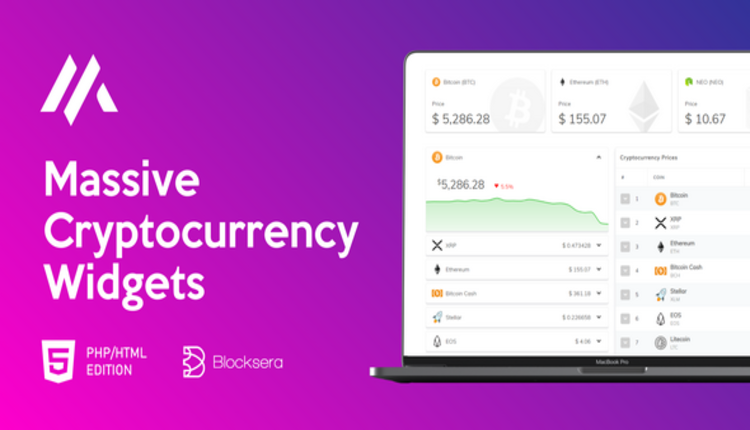 Massive Cryptocurrency Widgets - PHP/HTML Edition
