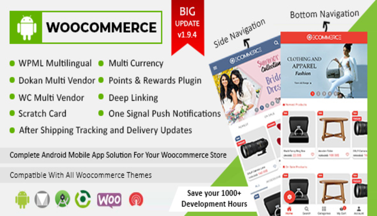 Android Woocommerce - Universal Native Android Ecommerce / Store Full Mobile Application