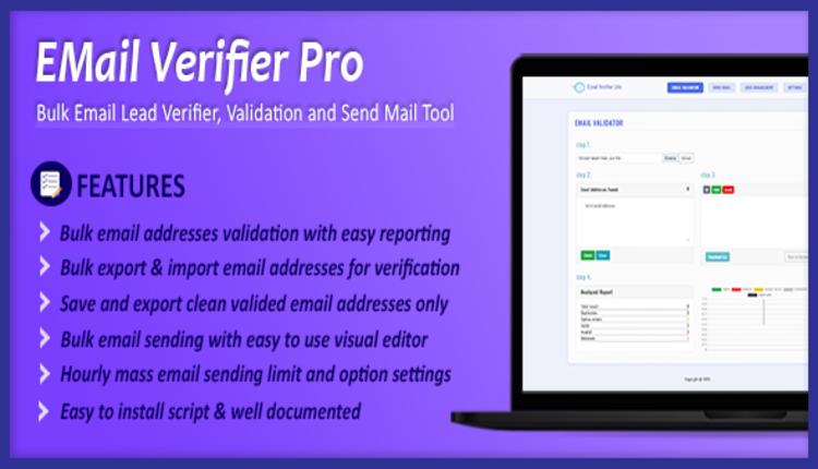 Email Verifier Pro - Bulk Email Addresses Validation, Mail Sender & Email Lead Management Tool
