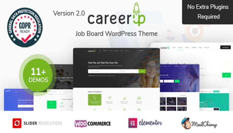 CareerUp - Job Board WordPress Theme