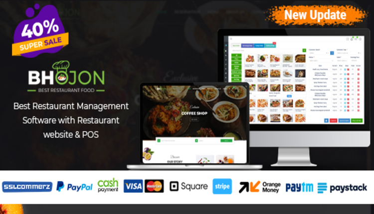 Bhojon - Best Restaurant Management Software with Restaurant Website