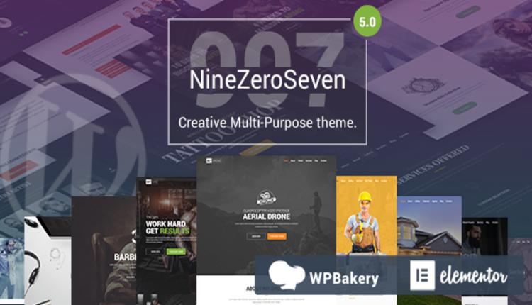 907 (NineZeroSeven) - Universal Responsive WordPress Theme