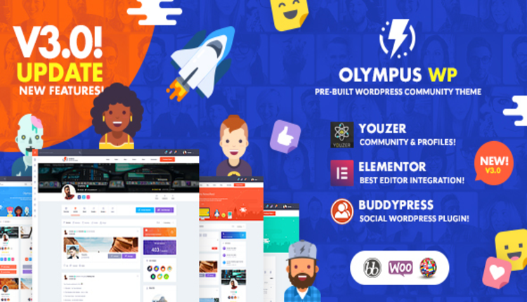 Olympus - Powerful BuddyPress Theme for Social Networking