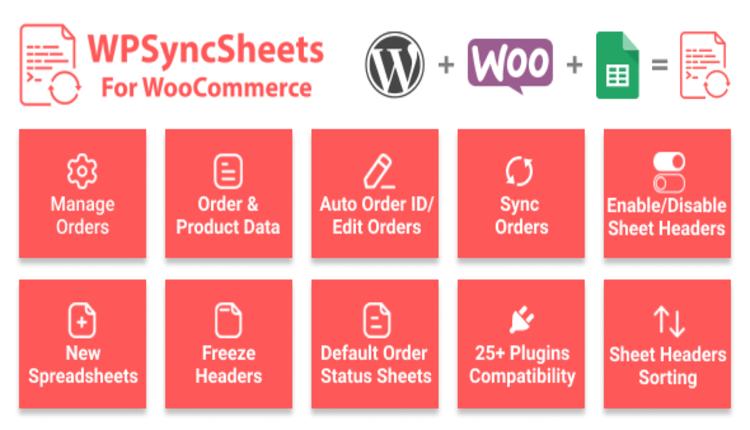 WooSheets - Manage WooCommerce Orders with Google Spreadsheet