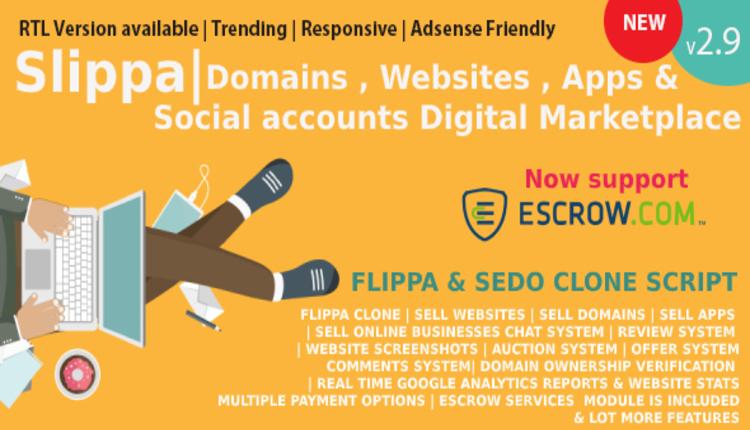 Slippa - Domains,Website & App Marketplace PHP Script