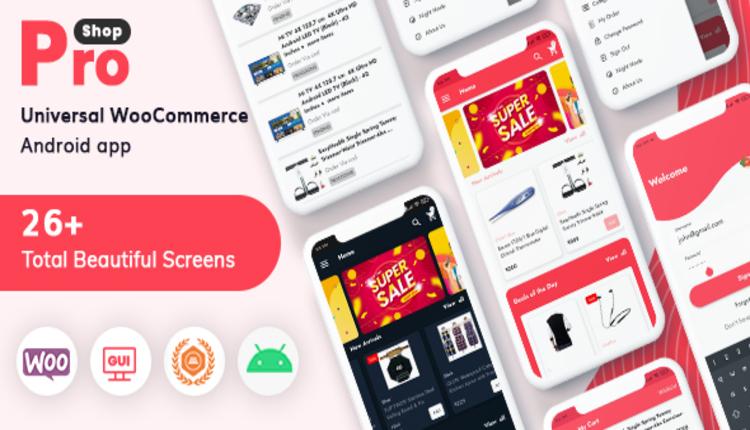 ProShop - WooCommerce Multipurpose E-commerce Android Full Mobile App + kotlin