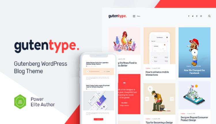 Gutentype   100% Gutenberg WordPress Theme for Modern Blog + RTL