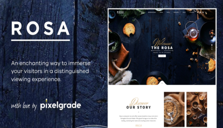 ROSA 1 - An Exquisite Restaurant WordPress Theme