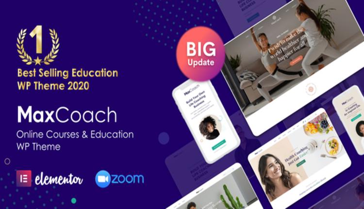 Online Courses & Education Elementor WP Theme - MaxCoach