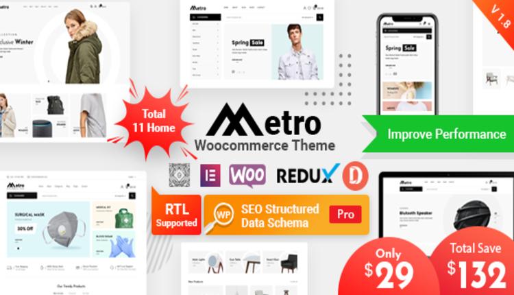 Metro – Minimal WooCommerce WordPress Theme
