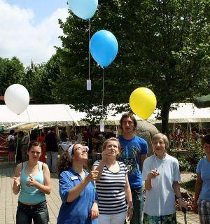 Helfereinsatz der Weiler Leos beim Sommerfest des Markus-Pflüger-Heims in Wiechs
